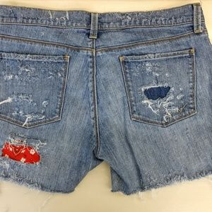 Not Levi's! Just distressed vintage shorts!
